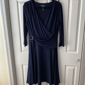 Ralph Lauren Faux Wrap Dress - Size 14